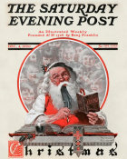 Norman Rockwell - Santa's Children (Santa and Expense Book), 1920