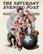 Norman Rockwell - Clown (Circus Clown and Dog), 1923