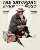 Norman Rockwell - Pals (Man Hugging Dog)