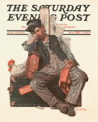 Norman Rockwell - Asleep on the Job
