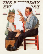 Norman Rockwell - Card Tricks