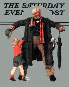 Norman Rockwell - The Gift (Little Boy Reaching in Grandfather's Overcoat), 1936