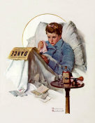 Norman Rockwell - The Cold (Girl Sick in Bed)