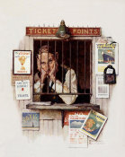 Norman Rockwell - Ticket Agent