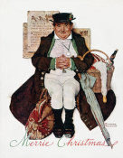 Norman Rockwell - Muggleston Coach (Merrie Christmas: Man with Christmas Goose, Jolly Yuletide)