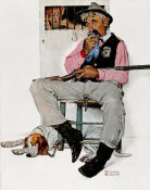 Norman Rockwell - Sheriff and Prisoner (Music Hath Charms, Sheriff Guarding Jail)