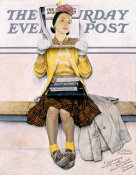 Norman Rockwell - Cover Girl (Girl Reading the Post), 1941