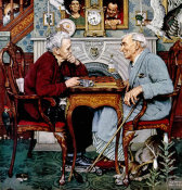 Norman Rockwell - April Fool (Checkers), 1943