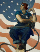 Norman Rockwell - Rosie the Riveter, 1943