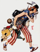 Norman Rockwell - Liberty Girl (Rosie to the Rescue), 1943