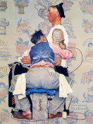 Norman Rockwell - Tattoo Artist (Only Skin Deep), 1944