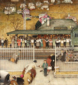 Norman Rockwell - Crestwood Train Station, 1946