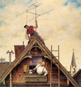 Norman Rockwell - New Television Set