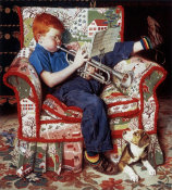 Norman Rockwell - Trumpet Practice height=