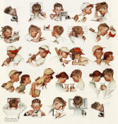 Norman Rockwell - Day in the Life of a Boy