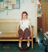 Norman Rockwell - The Shiner (Girl with Black Eye, The Young Lady with the Shiner)