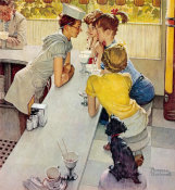 Norman Rockwell - Soda Jerk, 1953