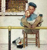Norman Rockwell - Lion and His Keeper height=