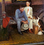 Norman Rockwell - Breaking Home Ties, 1954
