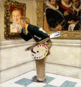 Norman Rockwell - Art Critic, 1955