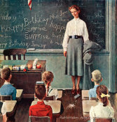 Norman Rockwell - Happy Birthday Miss Jones