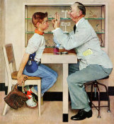 Norman Rockwell - Optometrist (Optician, Boy with New Glasses, Oculist), 1956
