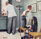 Norman Rockwell - Before the Shot, 1958