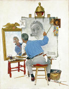 Norman Rockwell - Triple Self Portrait, 1960