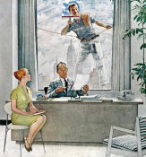 Norman Rockwell - Window Washer, 1960