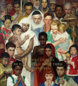 Norman Rockwell - Golden Rule, 1961