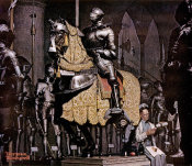 Norman Rockwell - Armor (Lunch Break with a Knight), 1962