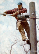 Norman Rockwell - The Lineman, 1948