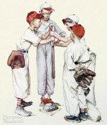 Norman Rockwell - Four Sporting Boys - Choosin Up, 1951
