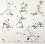 Norman Rockwell - Cheerleader (Drawing), 1961