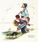 Norman Rockwell - Grandpa and Me: Fishing, 1948
