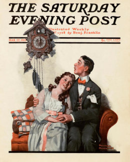 Norman Rockwell - Courting at Midnight
