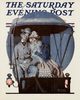 Norman Rockwell - Moonlight Buggy Ride