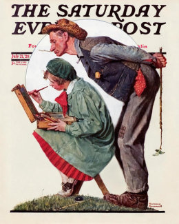 Norman Rockwell - Hayseed Critic