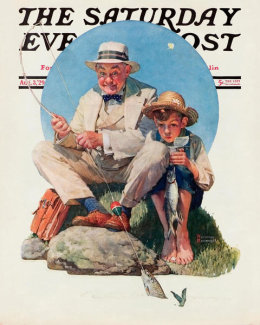 Norman Rockwell - Catching the Big One