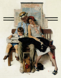 Norman Rockwell - Home From Vacation