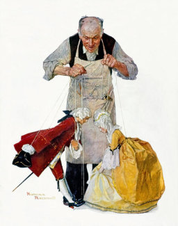 Norman Rockwell - Marionettes