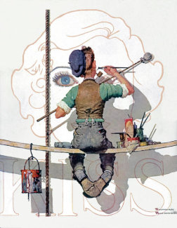 Norman Rockwell - Signpainter