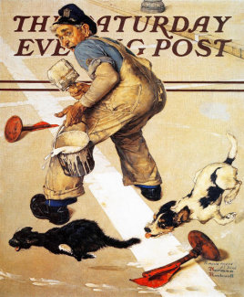 Norman Rockwell - Spilled Paint