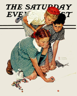 Norman Rockwell - Marbles Champion