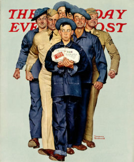 Norman Rockwell - Willie Gillis' Package from Home