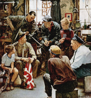 Norman Rockwell - Homecoming Marine