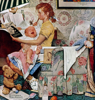 Norman Rockwell - The Babysitter