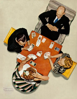 Norman Rockwell - Bridge Game
