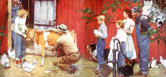 Norman Rockwell - Norman Rockwell Visits a County Agent