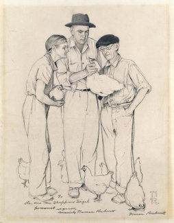 Norman Rockwell - Norman Rockwell Visits a County Agent (View B)